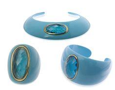 Colección Uzuri de Luxenter en resina turquesa, cuarzo y plata chapada....te atreves?