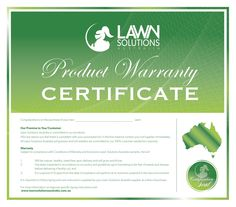 10 Years Turf Warranty - Lawn Solutions Australia - http://www.buffaloturf.com.au.