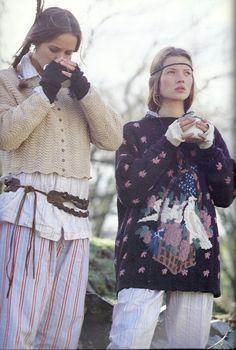 Rowan knitting magazine, very early nineties. Young Kate Moss.