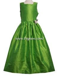 green flower girl dress - Google Search