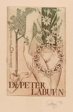 ex libris by Olaf Gropp for dr. Peter Labuhn, 2002