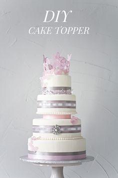DIY Cake Topper http://ruffledblog.com/diy-cake-topper #caketopper #diyideas
