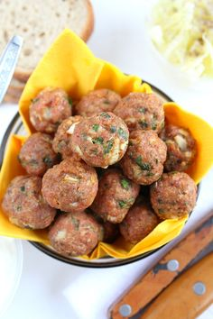 These easy to make Baked Meatballs are your foolproof, go to recipe you'll keep making over and over again! A much healthier alternative to the classic meatballs.