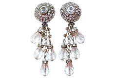 deLillo Faceted Rhinestone Drop Earrings on OneKingsLane.com