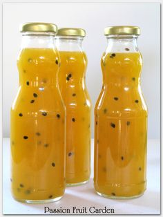 Passion fruit syrup. Just made this!! So yummy!!