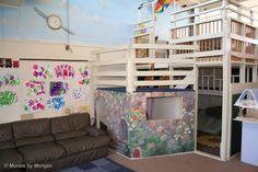 Preschool Loft with Mural