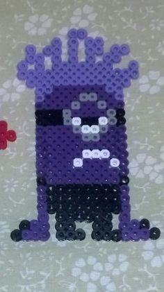 Evil Minion Despicable Me perler beads