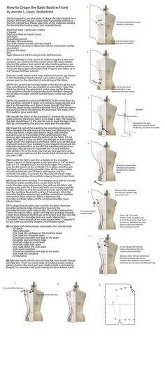 How to drape in fashion design garment fashion terminology fashion design sewing draping resources techniques and tutorials ideas for the aspiring fashion designer Draping Techniques, Techniques Couture, Sewing Techniques, Sewing Hacks, Sewing Tutorials, Sewing Tips, Sewing Ideas, Pattern Draping, Diy Kleidung