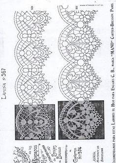 Risultati immagini per bobbin lace patterns free Crochet Borders, Filet Crochet, Irish Crochet, Lace Embroidery, Embroidery Patterns, Bobbin Lacemaking, Bobbin Lace Patterns, Point Lace, Lace Making