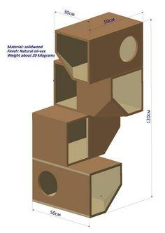 Modern modular cat tree
