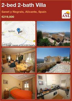 2-bed 2-bath Villa in Sanet y Negrals, Alicante, Spain ►€219,000 #PropertyForSaleInSpain