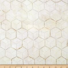 Artisan Batiks Concerto Honeycomb Parchment from @fabricdotcom  Designed by Lunn Studios for Robert Kaufman, this Indonesian batik is perfect for quilting, apparel and home décor accents. Colors include shades of ivory and cream.