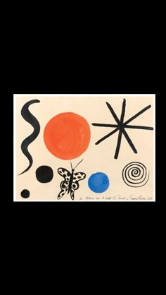 "Alexander Calder - "" Sans titre "", 1967 - Gouache and ink on paper - 58 x 78 cm"