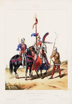 1439-1445. Compagnies d'Ordonnance: Archer; Homme d'Armes; Coustillier