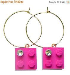 ON SALE Dark Pink LEGO R brick 2x2 with a by MademoiselleAlma #MademoiselleAlma #LEGO #ETSY