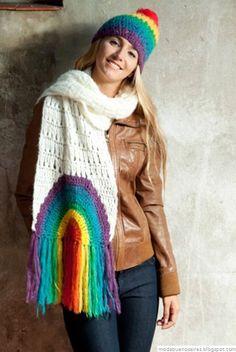 De las Bolivianas tejidos artesanales. Bufandas y gorros tejidos.