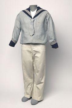 Late 19th Century Boy's Sailor Suit Culture: English Medium: cotton, gabardine