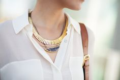 Layering necklaces =)