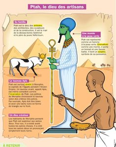 Fiche exposés : Ptah, le dieu des artisans Plus World History Classroom, Ap World History, Ancient History, French Class, French Lessons, Ancient Egypt For Kids, French History, Learn French, Ancient Civilizations