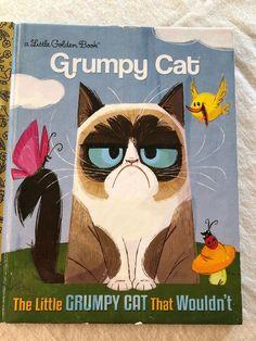 The Little Grumpy Cat that Wouldnt (Grumpy Cat) (Little Golden Book) by Golden 9780399553547 Grumpy Cat Book, Cat Yawning, Cat Whisperer, F2 Savannah Cat, Little Golden Books, Cute Cats And Kittens, Vintage Books, Cat Memes, Crazy Cats