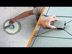 Tusoló csempeburkolata pontszerű vízelvezetéssel: 2. rész: - YouTube
