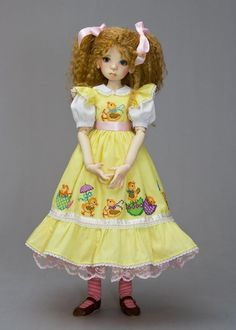 Yellow Chickies on dress :) cute