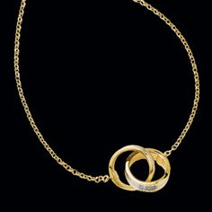 Entwined wedding band pendant.