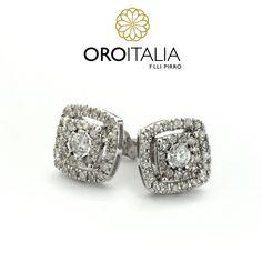 Aretes de diamantes en oro blanco.  Para precios llámanos al 303-6627 (Dorado) 303-6796 (Albrook) ref. 211606   #oroitalia #joyería #oro #gold #joyeríaspanamá #jewelry #panama #diamonds #diamantes #aretes #aretesdiamantes #earrings #diamondsearrings