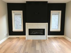 "Benjamin Moore ""Black Beauty"" 2128-10 accent wall."