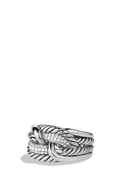 David Yurman 'Labyrinth' Ring with Diamonds available at #Nordstrom