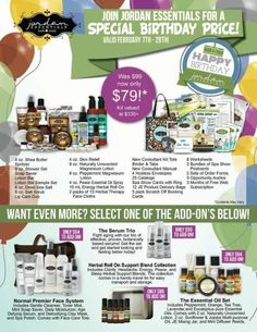 Feb. birthday special sign up.  Contact me to join my team.  www.myjestore.com/cindyhesse