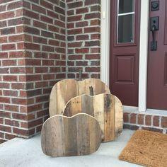 A personal favorite from my Etsy shop https://www.etsy.com/listing/472440725/reclaimed-wood-pumpkin-fall-season-decor