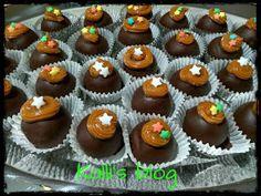 "Kalli's blog: ""Τρουφάκια banoffee"" Banoffee, Mini Cupcakes, Muffins, Breakfast, Desserts, Blog, Tailgate Desserts, Muffin, Deserts"