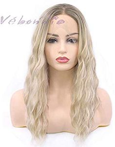 Sylvia Dirty Pink Wigs Natural Hairline Side Part Pastel Pink Lace Front Wigs Long Hair High Temperature Synthetic Bouncy Curly Hair Extensions & Wigs Synthetic None-lacewigs