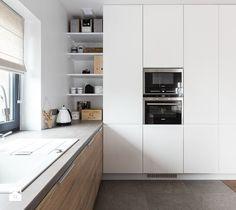 Aranżacje wnętrz - Kuchnia: Dom w Bochni - Średnia otwarta kuchnia w kształcie litery l, styl skandynawski - STABRAWA.PL - pozytywny design . Przeglądaj, dodawaj i zapisuj najlepsze zdjęcia, pomysły i inspiracje designerskie. W bazie mamy już prawie milion fotografii!