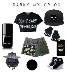 """""""yep"""" by marianna-xrisafi on Polyvore featuring Killstar, Chanel and Wall Pops!"""
