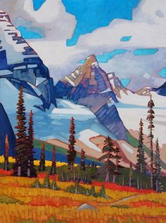 A collection of Paintings by Canadian Painter Nicholas Bott. Watercolor Landscape, Abstract Landscape, Landscape Paintings, Abstract Art, Watercolour, Canadian Painters, Canadian Artists, Outdoor Wall Art, Mountain Art