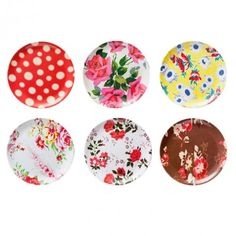cute floral plates so springy
