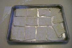 Easy Bake Water Crackers: 8 Steps Water Crackers Recipe, 4 Ingredient Recipes, 4 Ingredients, Sheet Pan, Food To Make, Baking, Simple, Easy, Springform Pan