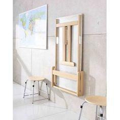 Stół składany - mocowany do ściany, prosty, wys. 71 cm