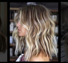Brown Blonde Hair, Brown Hair With Highlights, Summer Highlights, Color Highlights, Sun Kissed Highlights, Chunky Highlights, Balayage With Highlights, Blonde Highlights Bob Haircut, Natural Blonde Highlights