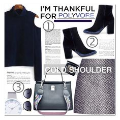 """""""I'm thankful for polyvore"""" by nanawidia ❤ liked on Polyvore featuring Balenciaga, Gianvito Rossi, Andrea, Christian Dior, Oscar de la Renta, coldshoulder, imthankfulfor and twinkledeals"""