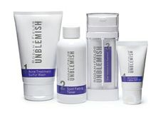 Breakouts? Unpredictable? Unreasonable? Unfair? Take control with our UNBLEMISH Regimen. Clinically proven to combat the entire acne cycle, this sophisticated regimen helps unclog pores, clears breakouts and calms your complexion to keep pimples, blackheads and post-acne marks from making an unwelcome appearance on your face—and in your life.  Since many acne sufferers have post-inflammatory hyperpigmentation (PIH), the remnant red/brown marks following a healed blemish, we offer UNBLEMISH…