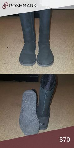 Black tall uggs Moderately used. Some signs of wear but overall good conditions (I probably only wore 5 times) UGG Shoes Winter & Rain Boots