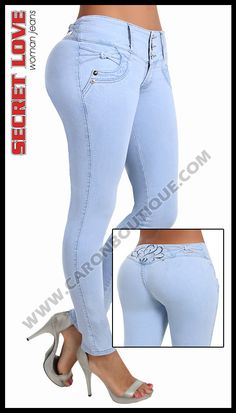Butt lifting jeans, push up brazilian style jeans, bump up jeans Women's Leggings, Leggings Are Not Pants, Classy Outfits, Casual Outfits, Pants For Women, Clothes For Women, Destroyed Jeans, Sexy Jeans, Super Skinny Jeans