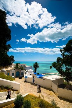 Sidi Bou Said (Tunisia). I have an obsession with Tunisia. Beautiful Places To Visit, Cool Places To Visit, Wonderful Places, Places To Travel, Beautiful Beaches, Places Around The World, Oh The Places You'll Go, Around The Worlds, Vacation Destinations