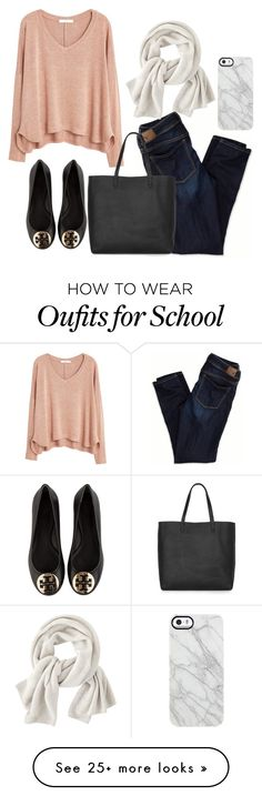 """So Done With School"" by abbybowen on Polyvore featuring Tory Burch, MANGO, American Eagle Outfitters, Madewell, Wrap and Uncommon"