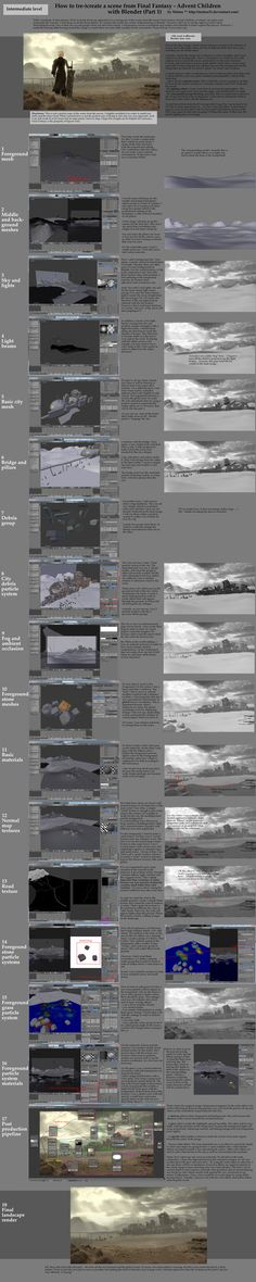 How to create scene from Final Fantasy in Blender by Matou31 on DeviantArt