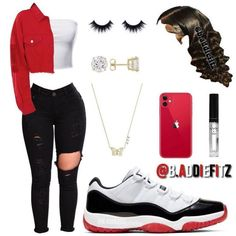 Jordan Outfits For Girls, Bad Girl Outfits, Baddie Outfits Casual, Swag Outfits For Girls, Teenage Girl Outfits, Cute Swag Outfits, Cute Comfy Outfits, Girls Fashion Clothes, Dope Outfits