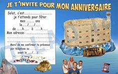 Cartes Invitation Anniversaire Fort Boyard Papier 250gr | eBay